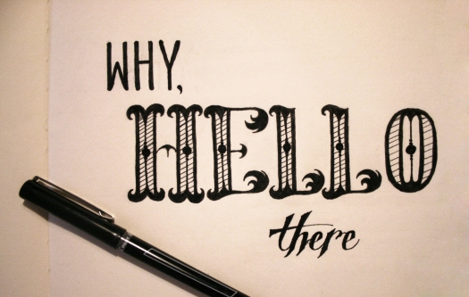 hello Lettering in Ink
